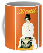 1924 - Olivetti Typewriter Advertisement Poster - Color Coffee Mug