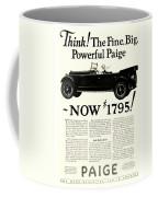 1924 - Paige Automobile Advertisement Coffee Mug