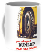 1924 - Dunlop Tires French Advertisement Poster - Color Coffee Mug
