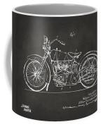 1928 Harley Motorcycle Patent Artwork - Gray Coffee Mug by Nikki Marie Smith