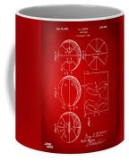 1929 Basketball Patent Artwork - Red Coffee Mug