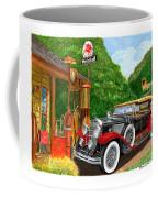1929 Cadillac Dual Cowl Phaeton And Pegasus Coffee Mug