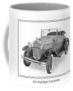 1931 Ford Convertible Coffee Mug by Jack Pumphrey