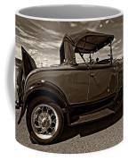 1931 Model T Ford Monochrome Coffee Mug by Steve Harrington