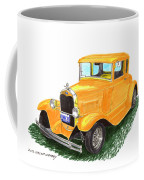 1931 Yellow Ford Coupe Coffee Mug by Jack Pumphrey