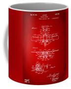1932 Amphibian Aircraft Patent Red Coffee Mug