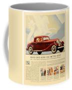 1933 - Buick Coupe Advertisement - Color Coffee Mug
