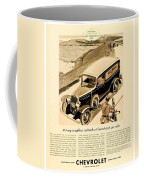 1933 - Chevrolet Commercial Automobile Advertisement - Old Gold Cigarettes - Color Coffee Mug