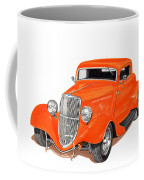 1933 Ford Three Window Coupe Coffee Mug