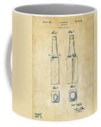 1934 Beer Bottle Patent Artwork - Vintage Coffee Mug
