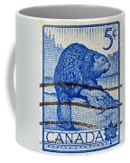 1954 Canada Beaver Stamp Coffee Mug