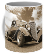 1934 Ford Coupe In Sepia Coffee Mug