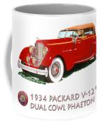 1934 Packard V-12 Dual Cowl Phaeton Coffee Mug