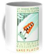 1935 - Lake Placid - New York - Travel Poster - Color Coffee Mug