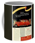 1935 - Nash Aeroform Automobile Advertisement - Color Coffee Mug
