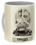 1935 - Panhard Panoramique French Automobile Advertisement Coffee Mug