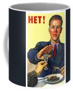 1935 - Soviet Union Anti Alcohol Propaganda Poster - Color Coffee Mug