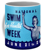 1935 Swim For Health Poster Coffee Mug