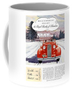 1936 - Lasalle Convertible Automobile Advertisement - Color Coffee Mug