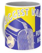 1937 - Plymouth Automobile Advertisement - Color Coffee Mug
