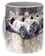 1937 Monaco Gp Team Mercedes Benz W125 Coffee Mug