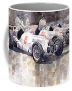 1937 Monaco Gp Team Mercedes Benz W125 Coffee Mug