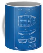 1938 Rowboat Patent Artwork - Blueprint Coffee Mug