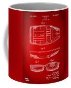 1938 Rowboat Patent Artwork - Red Coffee Mug