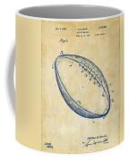 1939 Football Patent Artwork - Vintage Coffee Mug