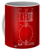 1939 Snare Drum Patent Red Coffee Mug