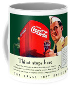 1940 - Coca-cola Advertisement - Color Coffee Mug