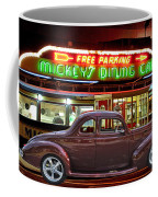 1940 Ford Deluxe Coupe At Mickeys Dinner  Coffee Mug