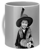 1940s Girl In Oversized Velvet Dress Coffee Mug