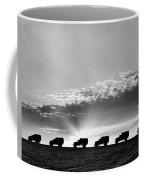 1940s Line Of Anonymous Silhouetted Coffee Mug