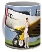 1940s Style Navy Pin-up Girl Leaning Coffee Mug by Christian Kieffer