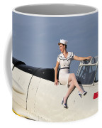 1940s Style Pin-up Girl Sitting Coffee Mug