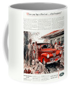 1941 - Ford Super Deluxe Automobile Advertisement - Color Coffee Mug