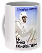 1941 - German Waffen Ss Norway Recruitment Poster - Nazi - Color Coffee Mug