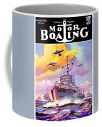 1942 - Motor Boating Magazine Cover - October - Color Coffee Mug
