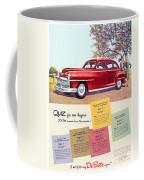 1947 - Desoto Automobile Advertisement - Color Coffee Mug