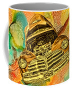 1948 Chev Gold Tie Dye Tilt Car Art Coffee Mug