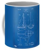 1948 Sailboat Patent Artwork - Blueprint Coffee Mug