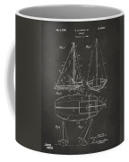 1948 Sailboat Patent Artwork - Gray Coffee Mug