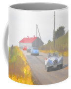 1950 Allard K2 Roadster And Porsche 356's Coffee Mug