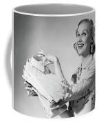1950s Proud Smiling Woman Housewife Coffee Mug