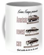 1951 - Kaiser Frazer Manhattan Automobile Advertisement - Color Coffee Mug
