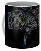 1951 Mg Td Dashboard_neon Car Art Coffee Mug