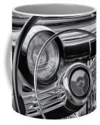 1953 Buick Super Dashboard And Steering Wheel Bw Coffee Mug