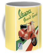1955 - Vespa Grand Sport Motor Scooter Advertisement - Color Coffee Mug