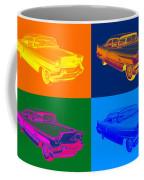 1956 Sedan Deville Cadillac Luxury Car Pop Art Coffee Mug